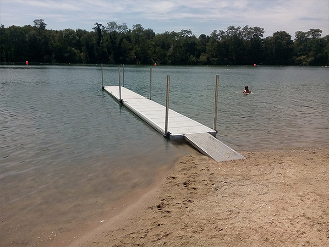 Easyfloat Floating Dock - Modular and low on water